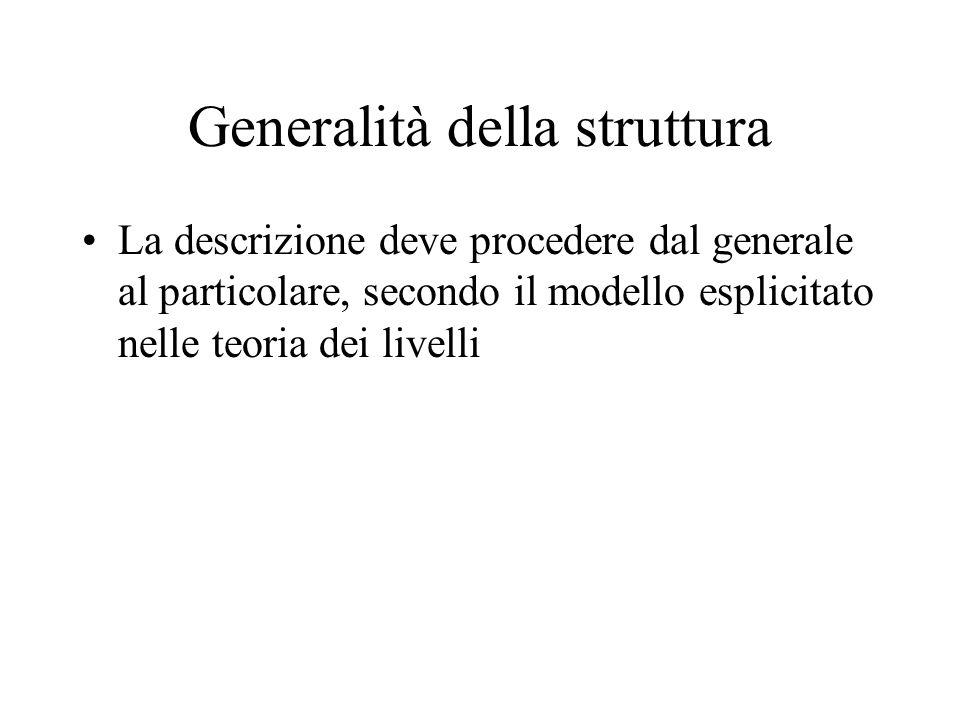 Generalità della struttura