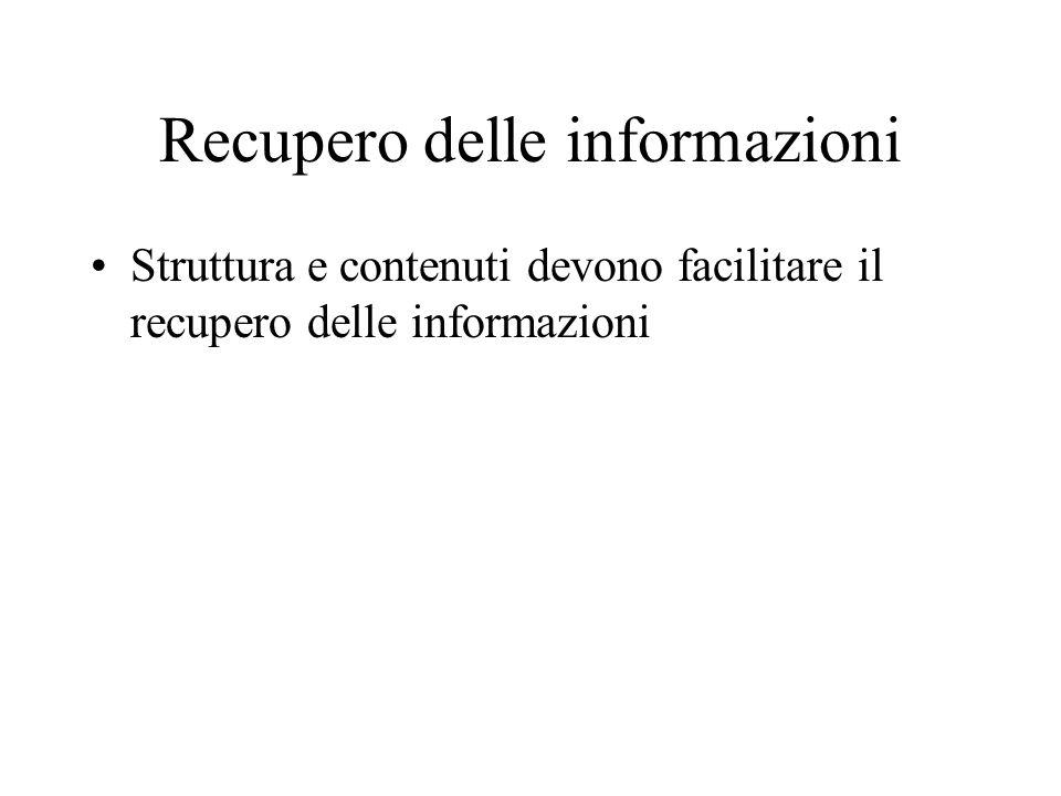 Recupero delle informazioni
