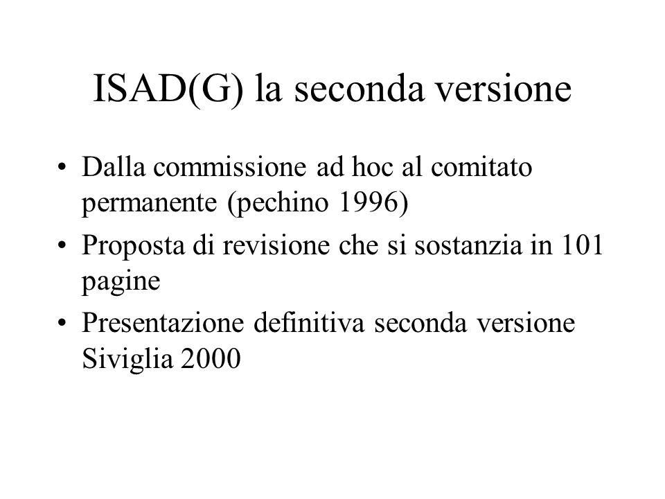 ISAD(G) la seconda versione