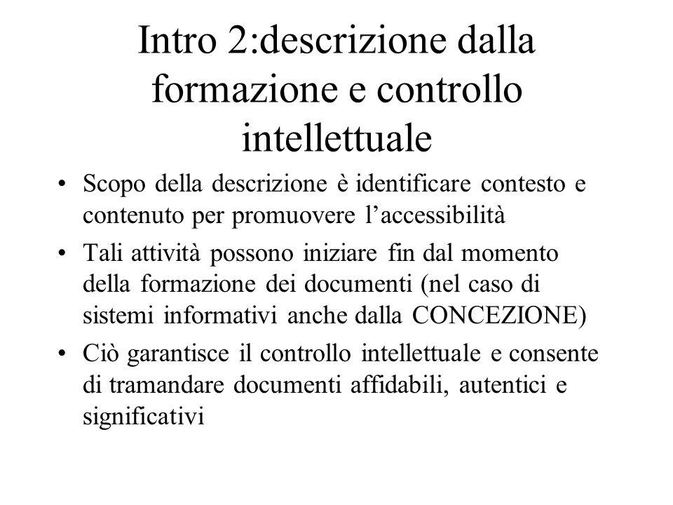 Intro 2:descrizione dalla formazione e controllo intellettuale