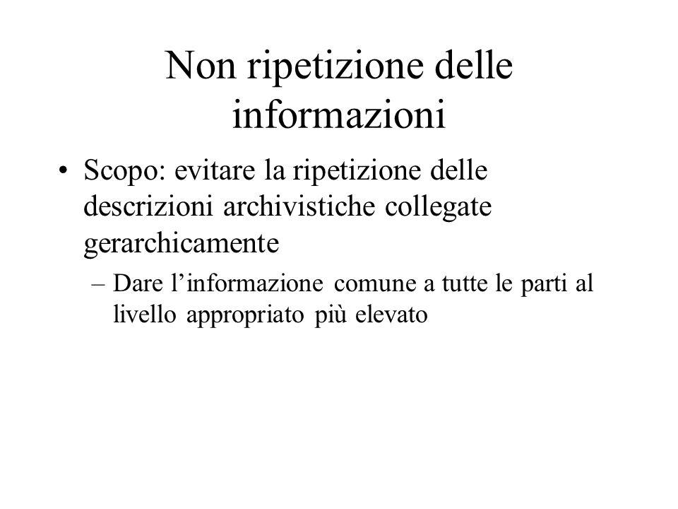 Non ripetizione delle informazioni