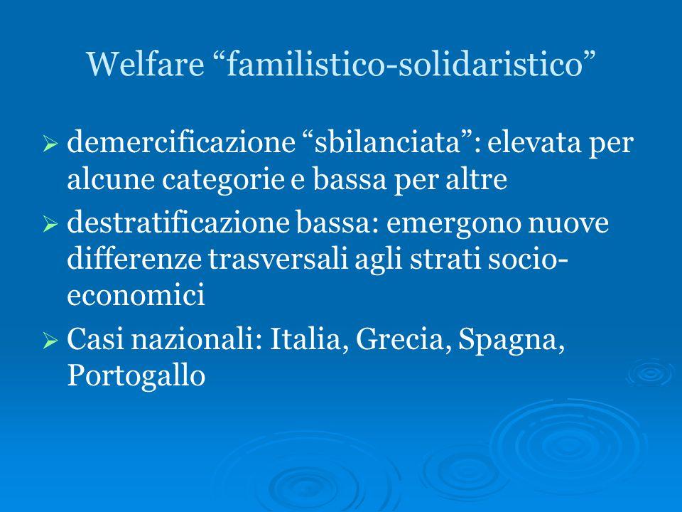 Welfare familistico-solidaristico