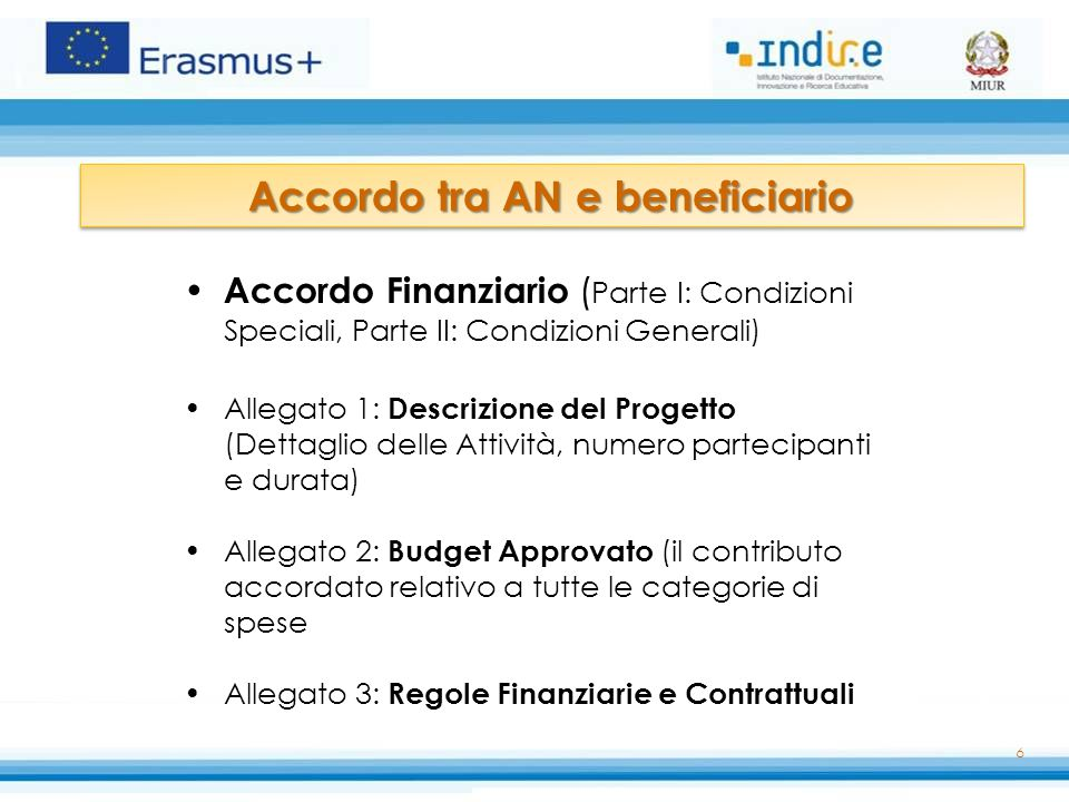 Accordo tra AN e beneficiario