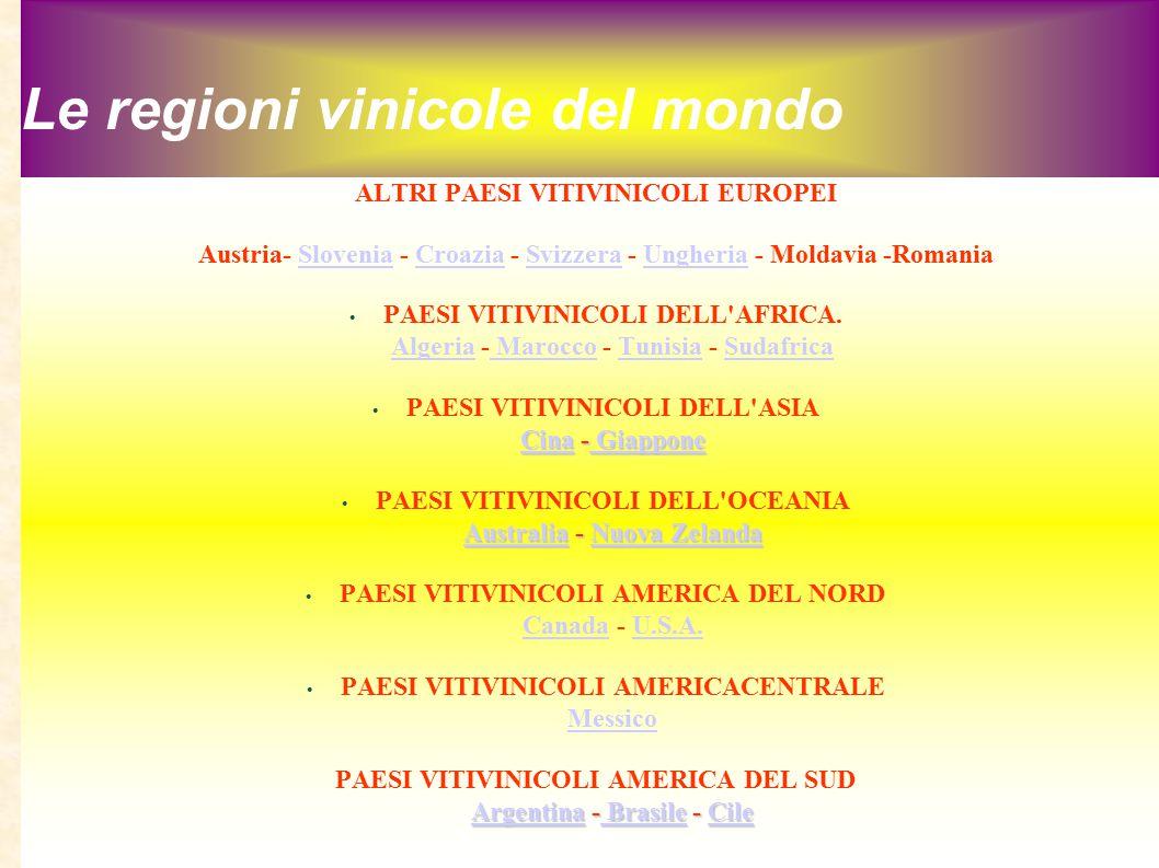 Le regioni vinicole del mondo
