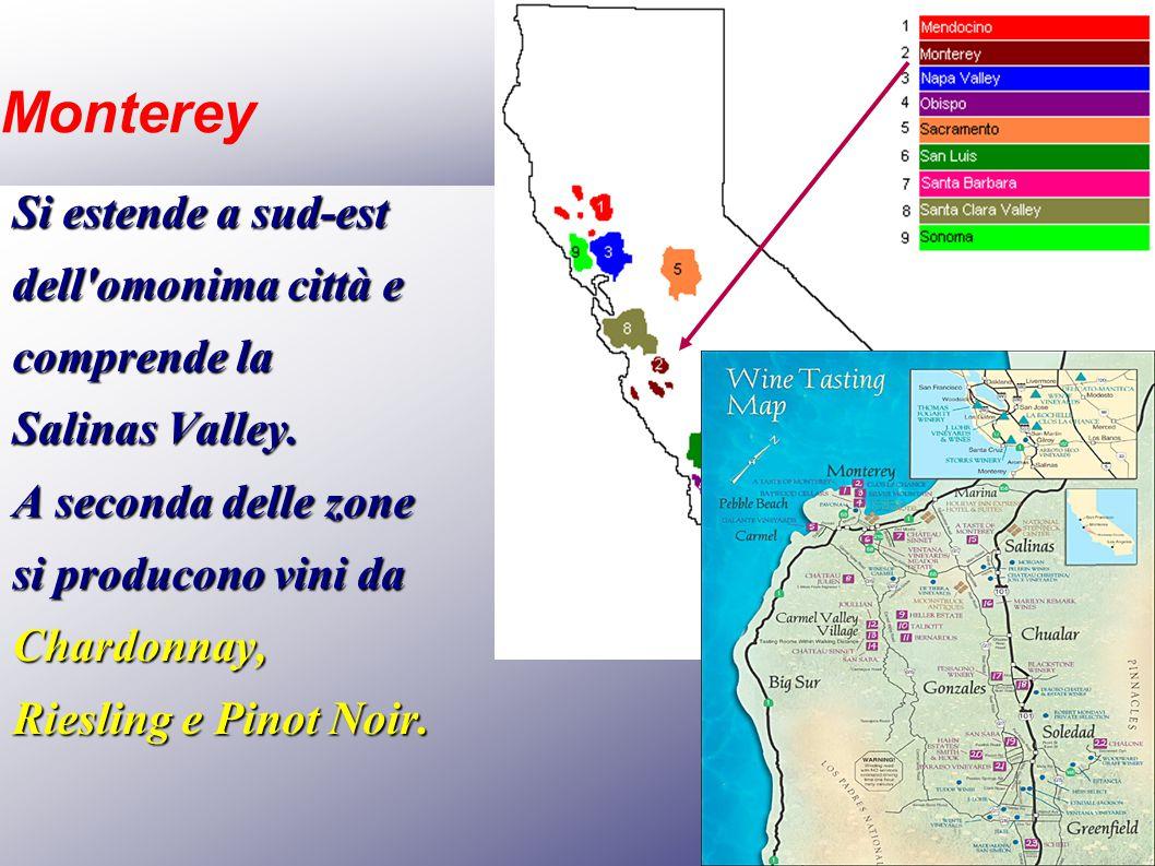 Monterey Si estende a sud-est dell omonima città e comprende la