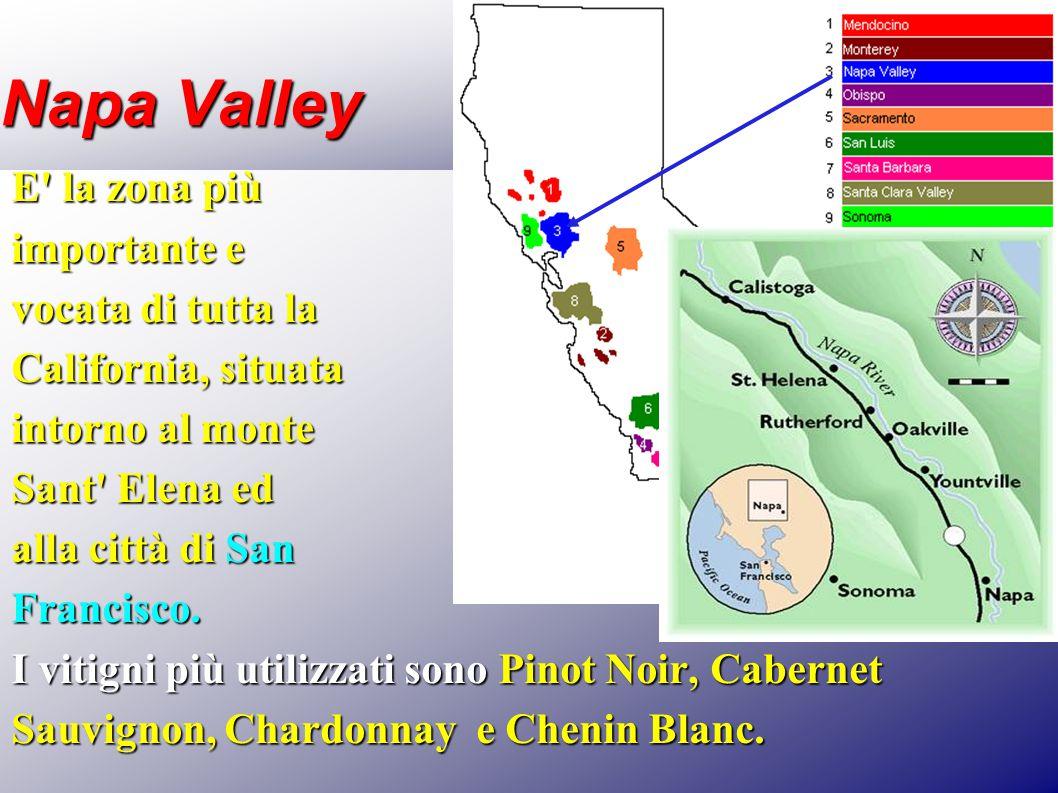 Napa Valley E la zona più importante e vocata di tutta la
