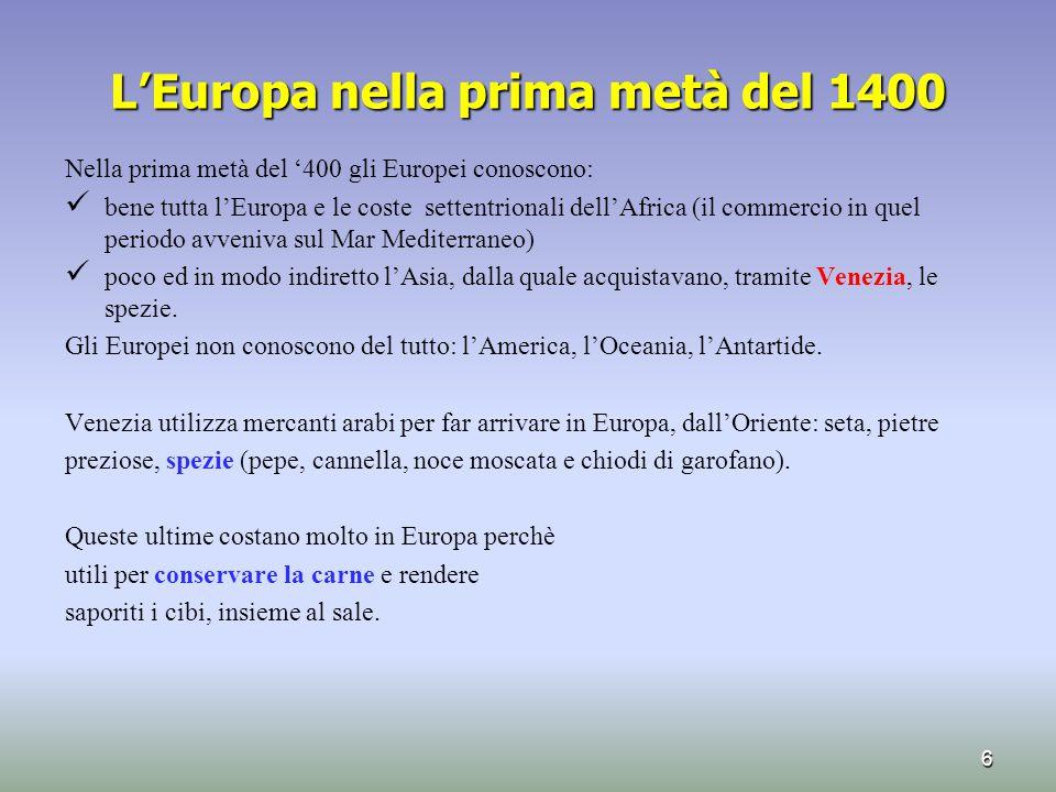 L'Europa nella prima metà del 1400