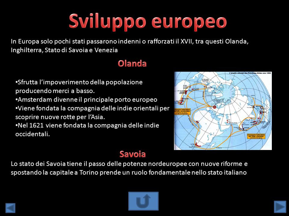 Sviluppo europeo Olanda Savoia