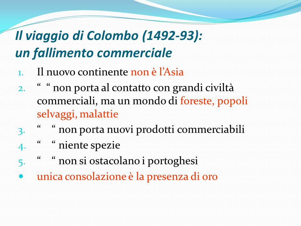 Il viaggio di Colombo (1492-93): un fallimento commerciale