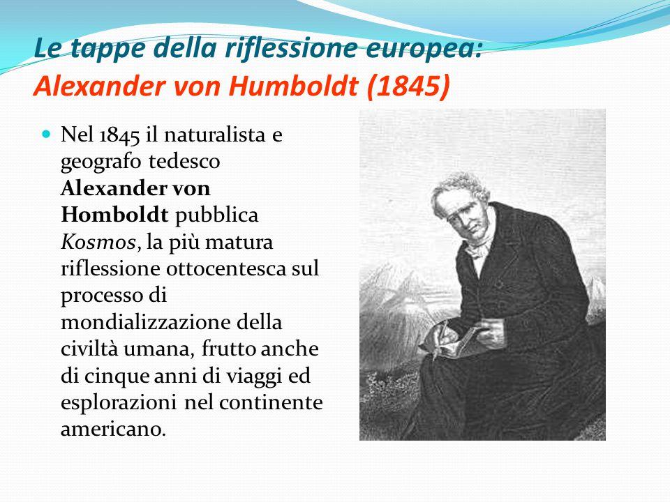Le tappe della riflessione europea: Alexander von Humboldt (1845)