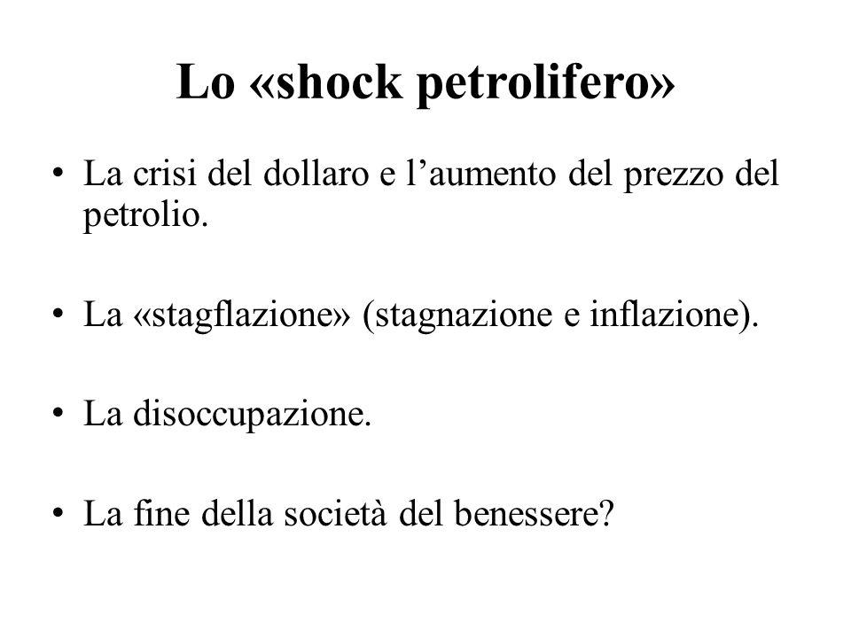 Lo «shock petrolifero»