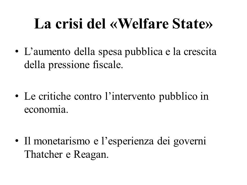 La crisi del «Welfare State»