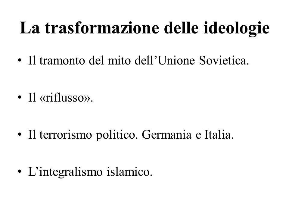 La trasformazione delle ideologie