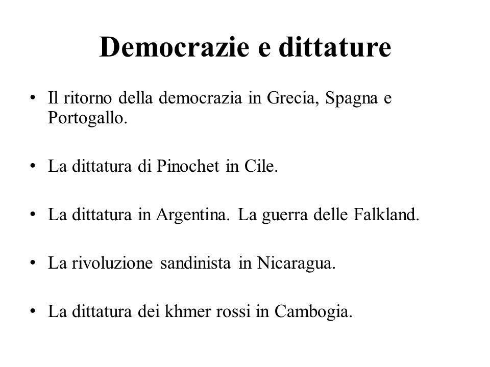 Democrazie e dittature