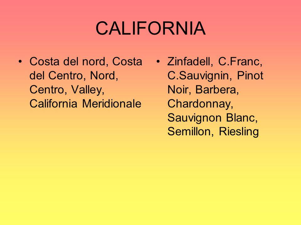 CALIFORNIA Costa del nord, Costa del Centro, Nord, Centro, Valley, California Meridionale.