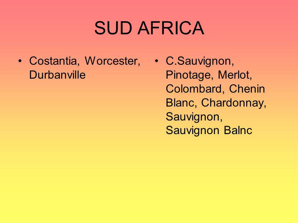 SUD AFRICA Costantia, Worcester, Durbanville