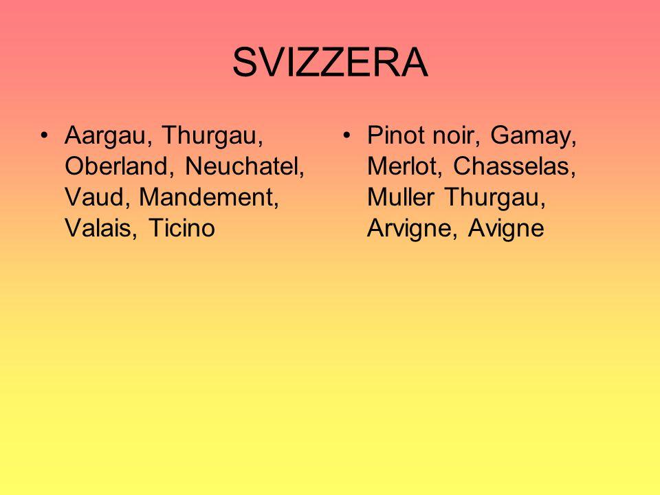 SVIZZERA Aargau, Thurgau, Oberland, Neuchatel, Vaud, Mandement, Valais, Ticino.