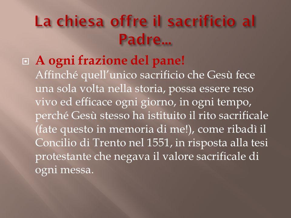 La chiesa offre il sacrificio al Padre...