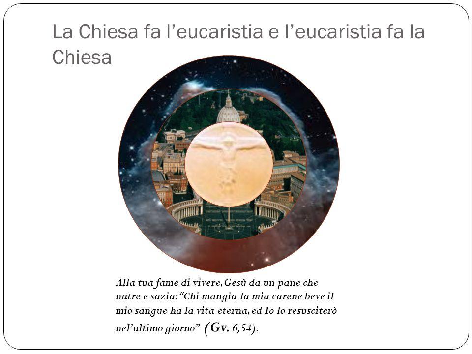 La Chiesa fa l'eucaristia e l'eucaristia fa la Chiesa
