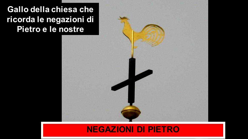 Gallo della chiesa che ricorda le negazioni di Pietro e le nostre