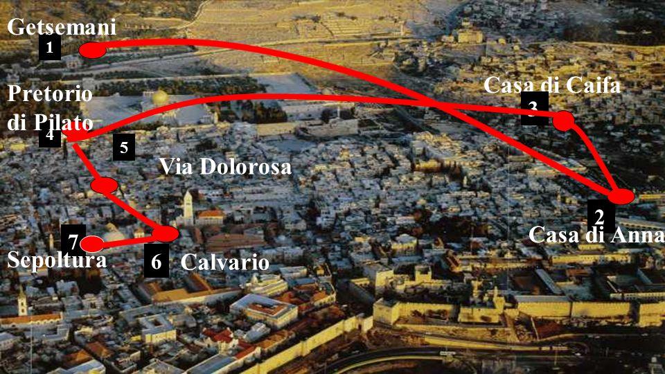 Getsemani Casa di Caifa Pretorio di Pilato Via Dolorosa Casa di Anna