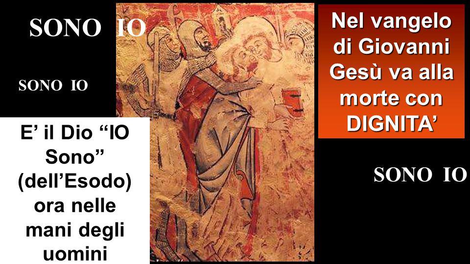 SONO IO Nel vangelo di Giovanni Gesù va alla morte con DIGNITA'