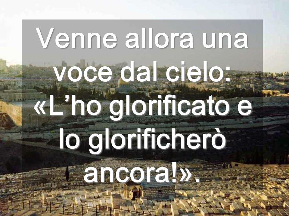 Venne allora una voce dal cielo: «L'ho glorificato e lo glorificherò ancora!».