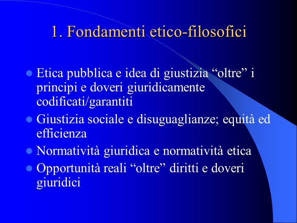 1. Fondamenti etico-filosofici