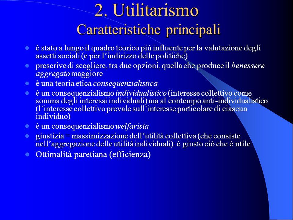 2. Utilitarismo Caratteristiche principali