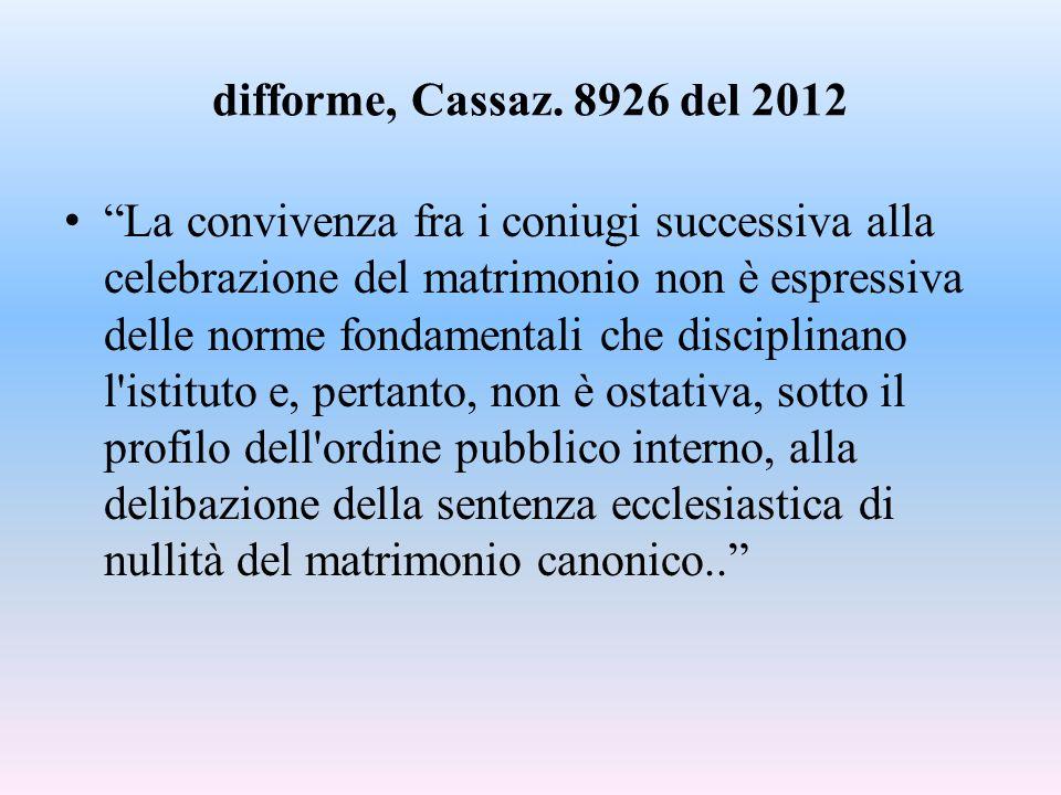difforme, Cassaz. 8926 del 2012