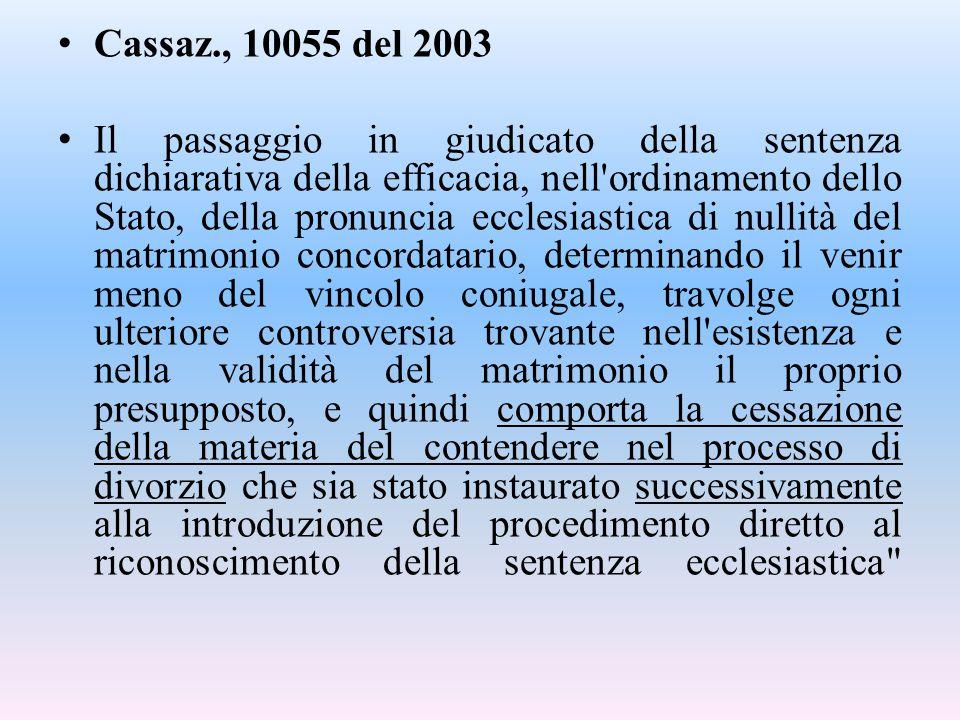 Cassaz., 10055 del 2003