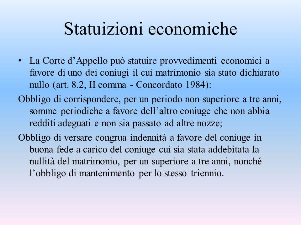Statuizioni economiche