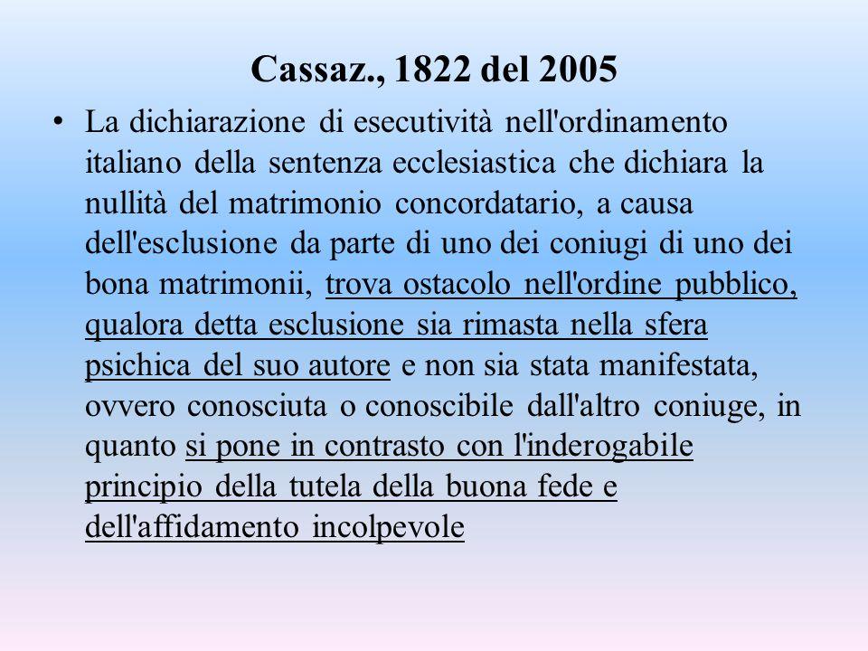 Cassaz., 1822 del 2005
