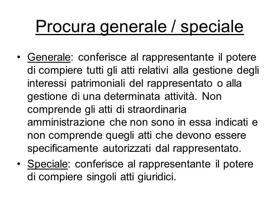 Procura generale / speciale