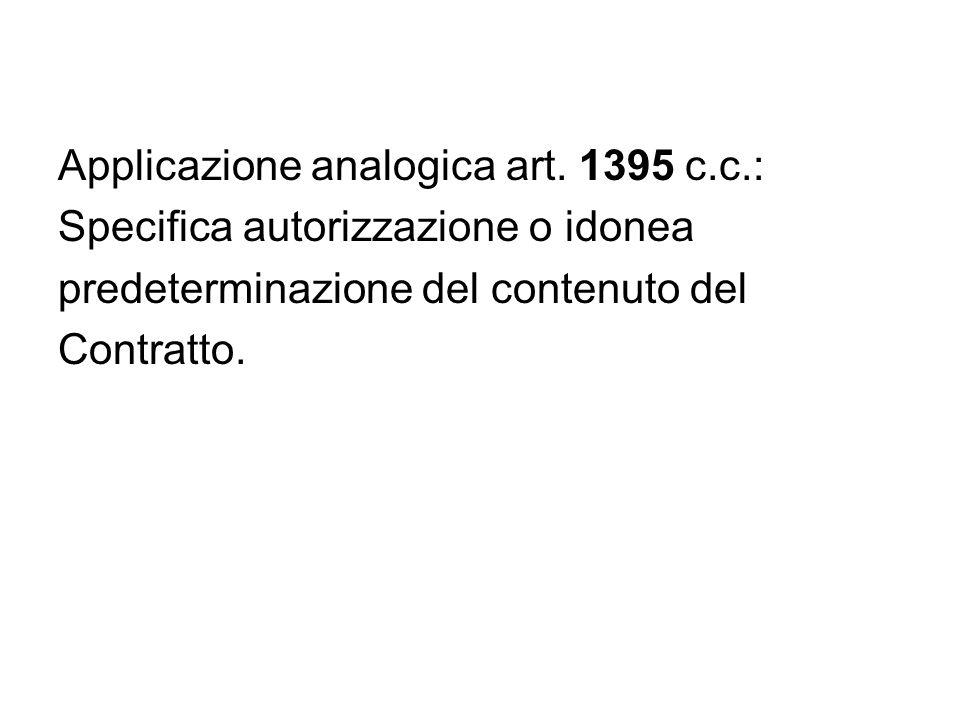 Applicazione analogica art. 1395 c.c.: