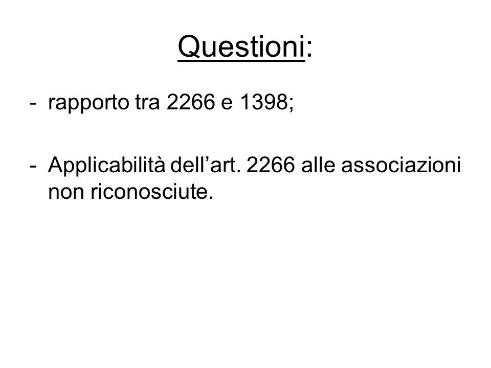 Questioni: rapporto tra 2266 e 1398;