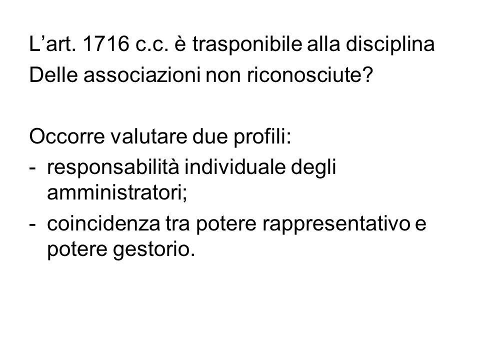L'art. 1716 c.c. è trasponibile alla disciplina
