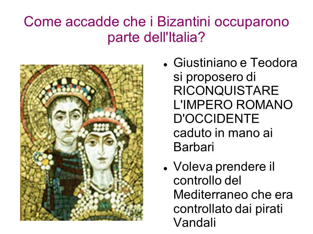 Come accadde che i Bizantini occuparono parte dell Italia