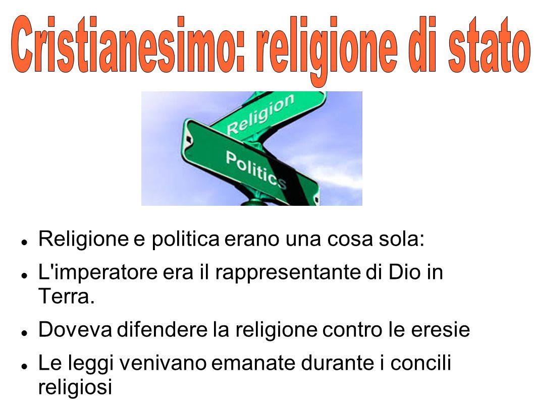Cristianesimo: religione di stato