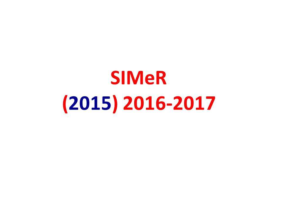 SIMeR (2015) 2016-2017