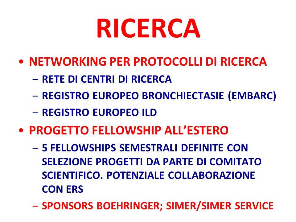 RICERCA NETWORKING PER PROTOCOLLI DI RICERCA