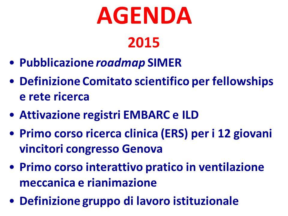 AGENDA 2015 Pubblicazione roadmap SIMER