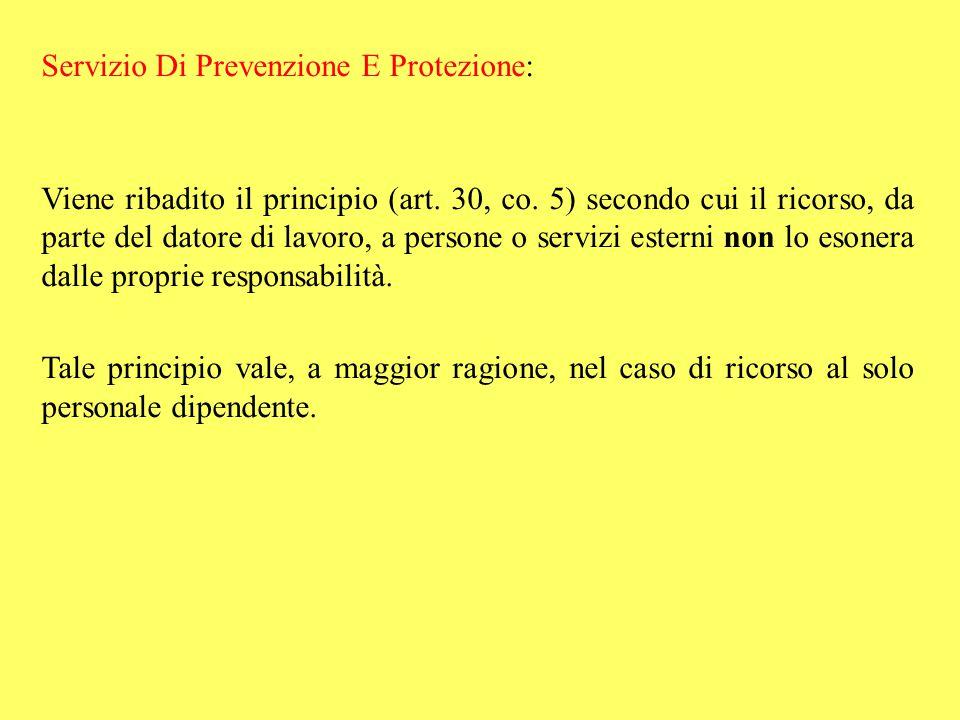 Servizio Di Prevenzione E Protezione: