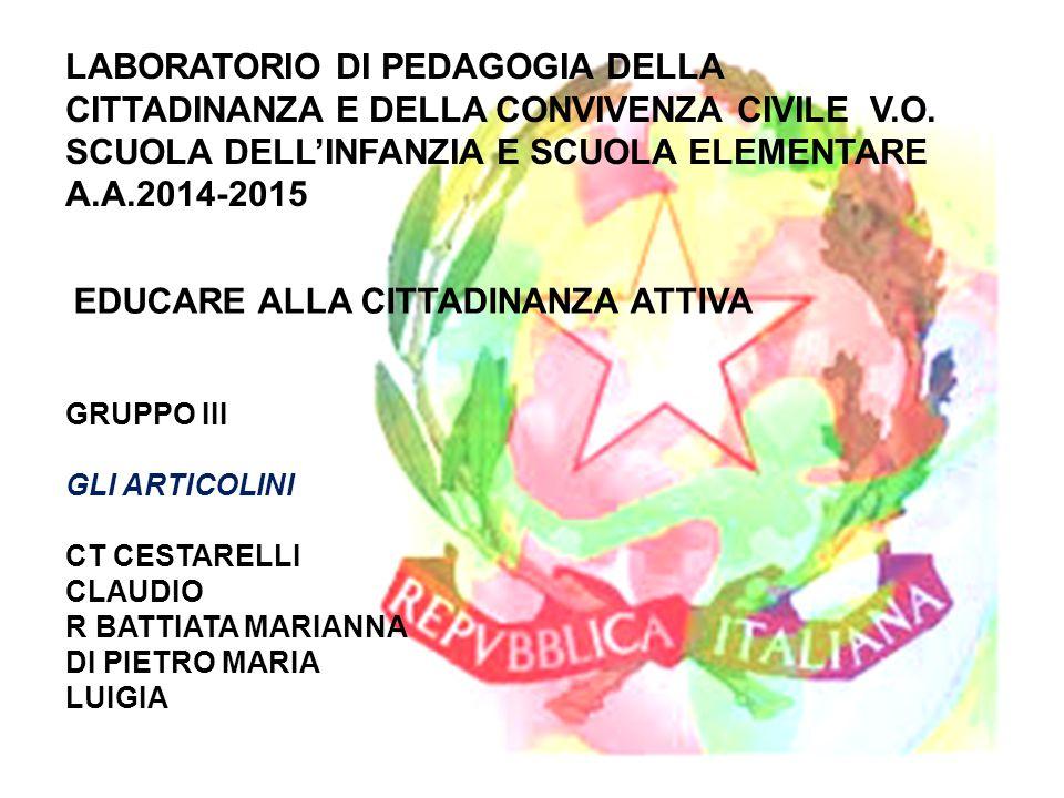 EDUCARE ALLA CITTADINANZA ATTIVA
