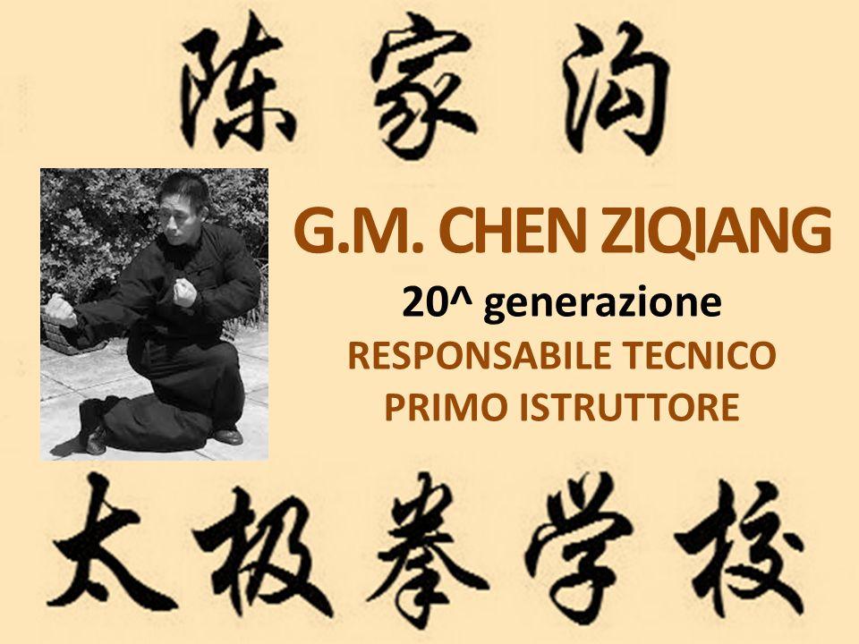 G.M. CHEN ZIQIANG 20^ generazione RESPONSABILE TECNICO