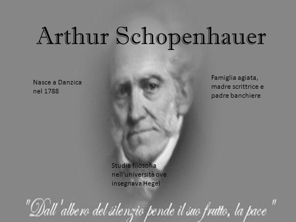 Arthur Schopenhauer Famiglia agiata, madre scrittrice e padre banchiere. Nasce a Danzica nel 1788.