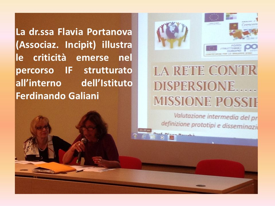 La dr. ssa Flavia Portanova (Associaz