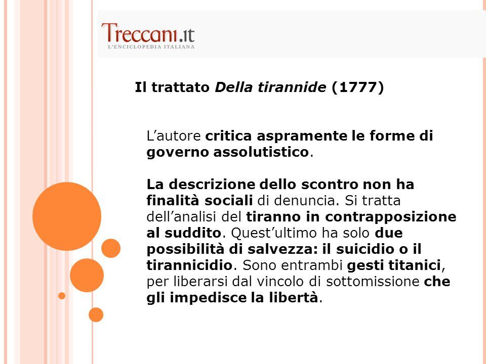 Il trattato Della tirannide (1777)