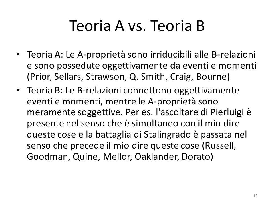 Teoria A vs. Teoria B