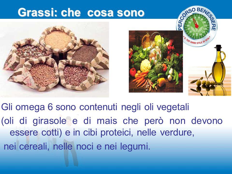Grassi: che cosa sono Gli omega 6 sono contenuti negli oli vegetali